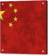 China Flag Acrylic Print