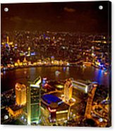 China Shanghai At Night  Acrylic Print