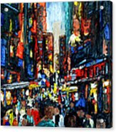 China Town Acrylic Print by Anthony Falbo