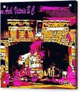 China Town Arch Victoria British Columbia Canada Acrylic Print