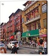 China Town Nyc Acrylic Print