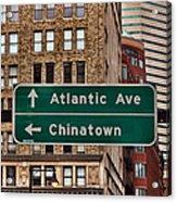Chinatown Boston Acrylic Print