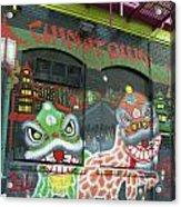 Chinatown Foo Dog Mural Acrylic Print