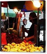 Chinatown Fruit Vendor Acrylic Print