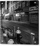 Chinatown New York City - Joe's Ginger On Pell Street Acrylic Print