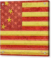 Chinese American Flag Blend Acrylic Print