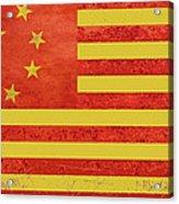 Chinese American Flag Acrylic Print