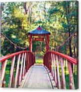 Chinese Bridge Wandiligong Acrylic Print