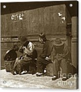Chinese Cobbler San Francisco California Chinatown Circa 1900 Acrylic Print