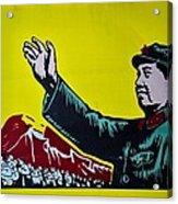 Chinese Communist Propaganda Poster Art With Mao Zedong Shanghai China Acrylic Print