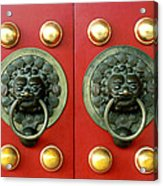 Chinese Doorknob Acrylic Print