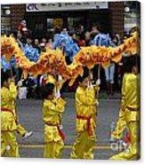 Chinese Dragon Dancers Acrylic Print