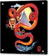 Chinese Dragon On Black Acrylic Print