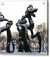 Chinese Dragons Acrylic Print by Brett Geyer