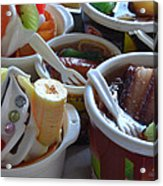 Chinese Food Miniatures 3 Acrylic Print