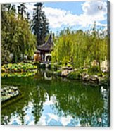 Chinese Garden And Sky Acrylic Print