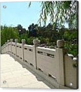 Chinese Garden Bridge Acrylic Print
