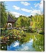 Chinese Garden Vista Acrylic Print