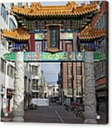 Chinese Gate To The Chinatown  Acrylic Print