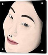 Chinese Girl Acrylic Print by Sara Ponte