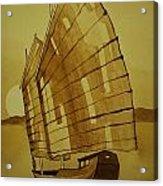 Chinese Junk Boat Acrylic Print