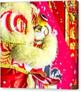 Chinese Lion Head Acrylic Print