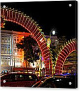 Chinese New Year 2012 Dragon Sculpture Decoration Panorama Acrylic Print
