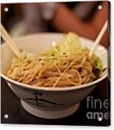 Chinese Noodle Dish Acrylic Print