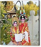 Chinese Opera Children - Traditional Chinese Opera Costumes. Acrylic Print