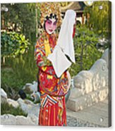 Chinese Opera Girl - In Full Traditional Chinese Opera Costumes. Acrylic Print