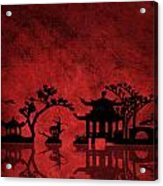 Chinese Red Acrylic Print