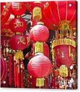Chinese Red Lanterns Acrylic Print