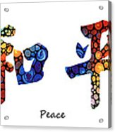 Chinese Symbol - Peace Sign 16 Acrylic Print