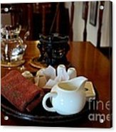Chinese Tea Pot Cups Towel Tray And Plates Acrylic Print