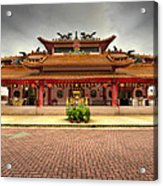 Chinese Temple Paved Square Acrylic Print