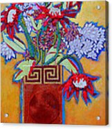 Chinese Vase Acrylic Print by Diane Fine