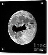 Chinook Moon B And W Acrylic Print