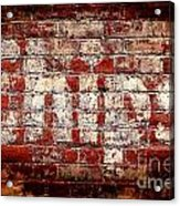 Chips Brick Wall Acrylic Print