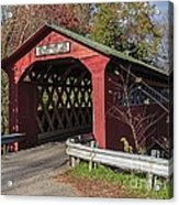 Chiselville Covered Bridge Acrylic Print by Edward Fielding