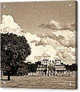 Chitzen Itza Panorama Sepia Acrylic Print