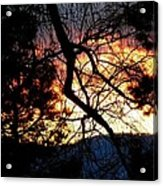 Chock-a-block Silhouettes Acrylic Print