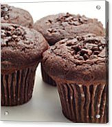 Chocolate Chocolate Chip Muffins - Bakery - Breakfast Acrylic Print