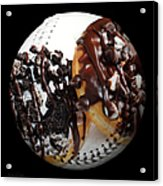 Chocolate Donuts Baseball Square Acrylic Print by Andee Design
