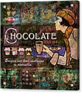Chocolate Acrylic Print by Evie Cook