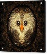 Chocolate Nested Easter Owl Acrylic Print