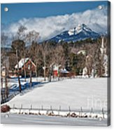 Chocorua - Where The Mountain Meets The Town Acrylic Print