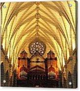 Choir Loft At Saint Josephs Cathedral Buffalo New York Acrylic Print