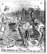 Cholera Cartoon, 1858 Acrylic Print