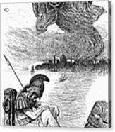 Cholera Cartoon, 1883 Acrylic Print by Granger
