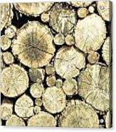 Chopped Wood Acrylic Print